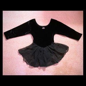 Moret Black Velvet Leotard Wuth Tutu Skirt Girls S